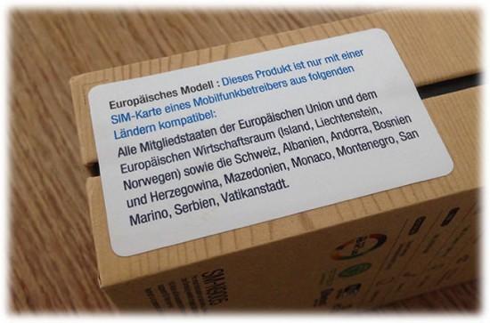 Galaxy Note 3 Box Regional Lock Small