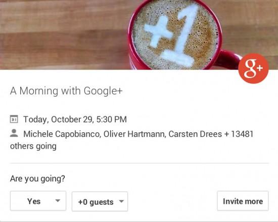 Google+-Event
