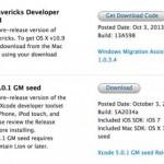 Apple veröffentlicht OS X Mavericks Gold Master
