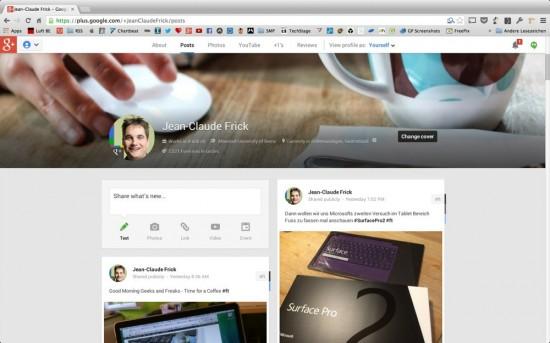 Google+ Profil JC
