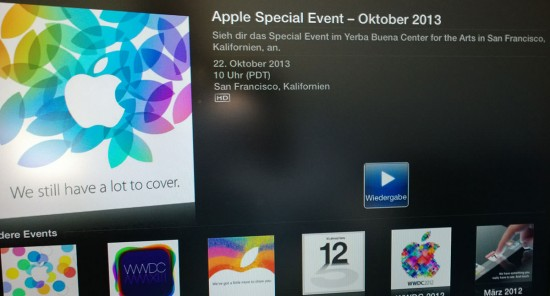 Apple 2013 iPad Event Livestream