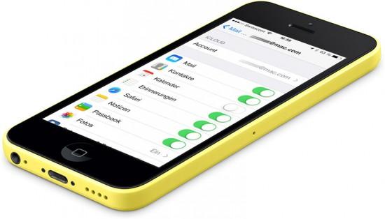 iCloud Push on iPhone 5C