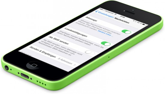 iMessage Einstellungen iPhone 5C