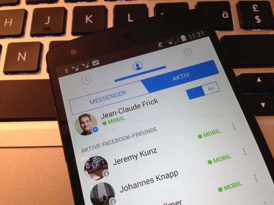Facebook Messenger für Android on Nexus 5