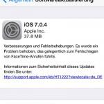 Apple veröffentlicht iOS 7.0.4 – Verbessertes Facetime – Download Links