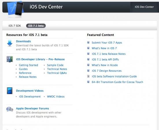 iOS 7.1 Beta Download