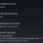 Android 4.4.2 wird für Nexus 4, Nexus 5 und das Nexus 7 ausgerollt