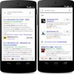 Google verbessert Android Suche: Ergebnisse von und in Apps möglich