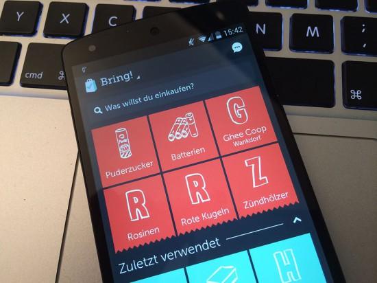 Bring für Android auf Nexus 5