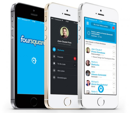 Foursquare iOS 7 Design