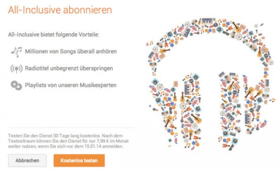 Google Music All Access D
