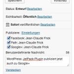 WordPress: JetPack-Plugin publiziert jetzt auch zu Google+