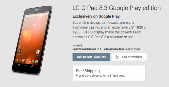 LG G Pad 8_3 Google Play Edition