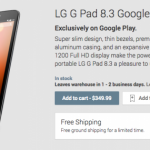 LG G Pad 8.3 Google Play Edition veröffentlicht