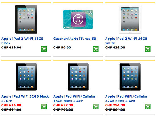 Postshop Aktion iPad iTunes Gift Card