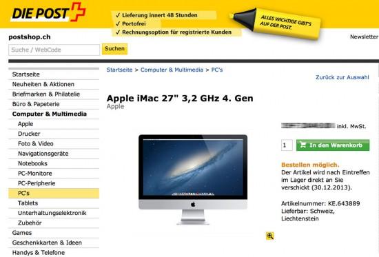 Postshop Ausverkauf iMac