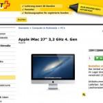 Ausverkauf im Postshop: Rabatte auf iMac und iPod