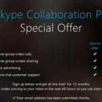 Skype: Gratis Gruppen Anrufe und Screensharing für ein Jahr