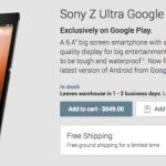 Sony Xperia Z Ultra Google Play Edition veröffentlicht