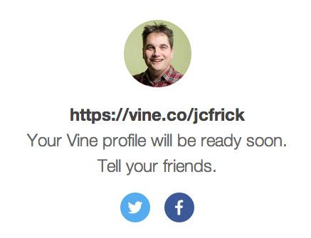 Vine Vanity URL