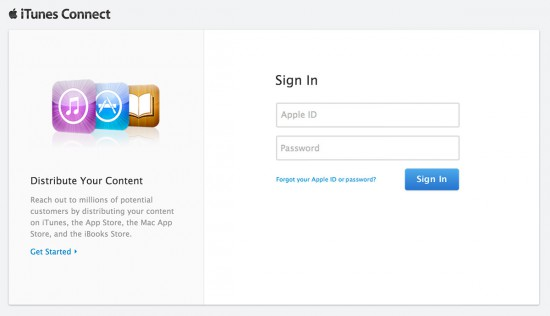 iTunes-Connect-Login