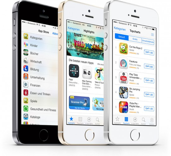 Apple App Store on iPhone 5S