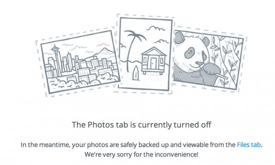 Dropbox-Foto-Tab-deaktiviert