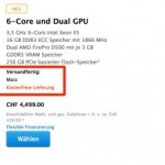Apple: Lieferzeit des Mac Pro steigt auf März