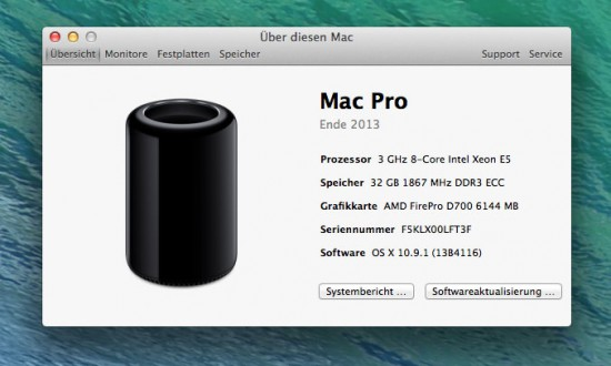 Mac-Pro-Konfiguration