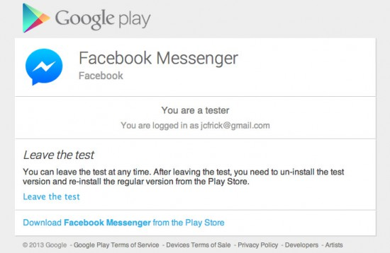 Facebook-Messenger-Beta-Group