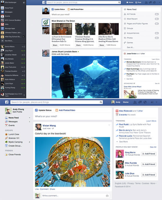 Facebook-Newsfeed-Design-2013-und-2014