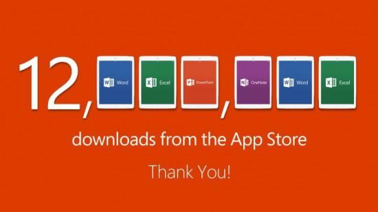 12 MIO Download iPad Office
