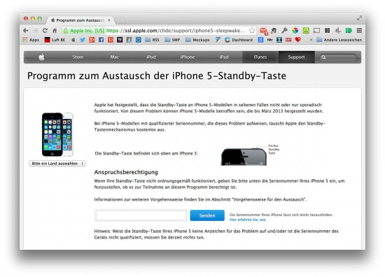 Apple-iPhone-5-Austausch-Programm