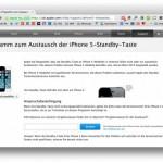 Apple Austauschprogramm für defekte iPhone 5 Standby-Taste