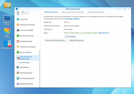 DSM 5 Synology Update