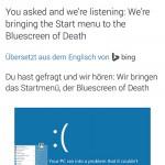 Twitter für Android übersetzt mit Bing