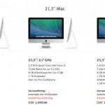 Apple stellt günstigeres iMac 21,5 Zoll Einstiegsmodell vor