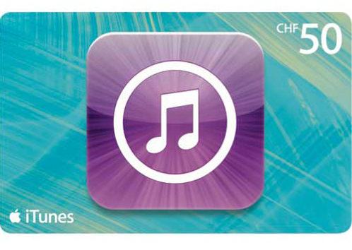 iTunes-50CHF-Karte
