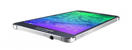Samsung Galaxy Alpha flach
