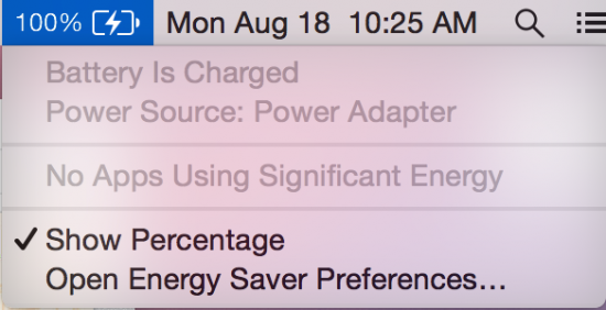 OS X Yosemite DP6 Charge Icon