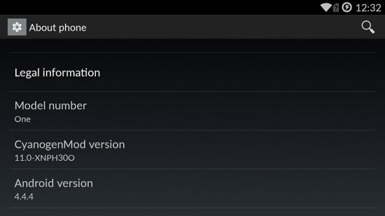 OnePlus-Android-4.4.4-CM-Version