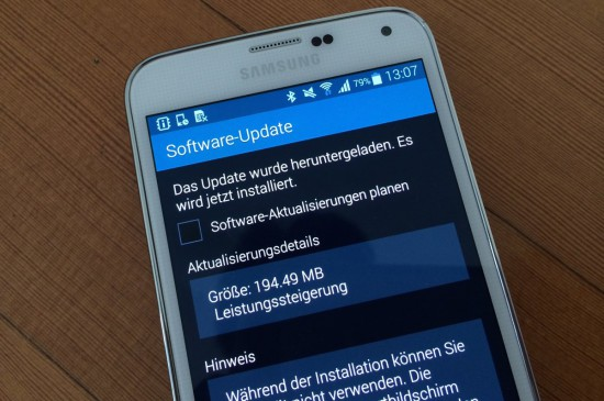 Samsung Galaxy S5 Firmware Update
