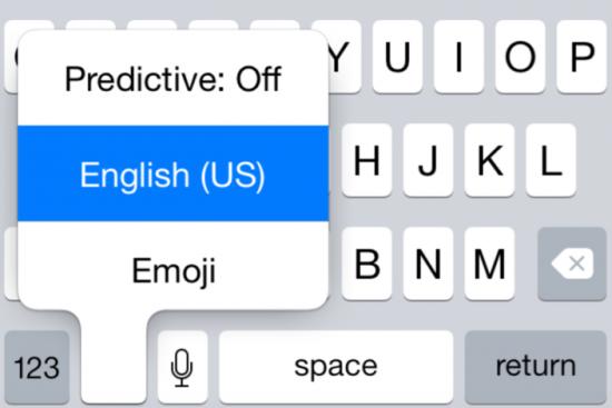 iOS 8 Beta 5 Keyboard Settings