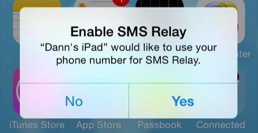iOS 8 Beta 5 SMS Relay