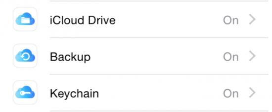 iOS 8 Beta 5 iCloud Icons