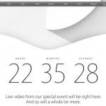 Apple heizt die Spannung an und leitet Apple.com auf Livestream Seite um