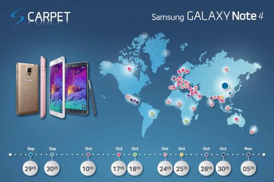 Samsung Galaxy Note 4 Marktstart