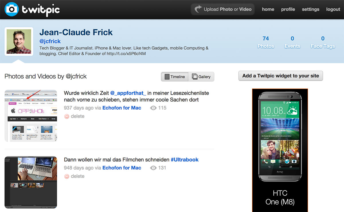 Bild-Hoster TwitPic schliesst am 25. September - iFrick.ch ... - photo#28