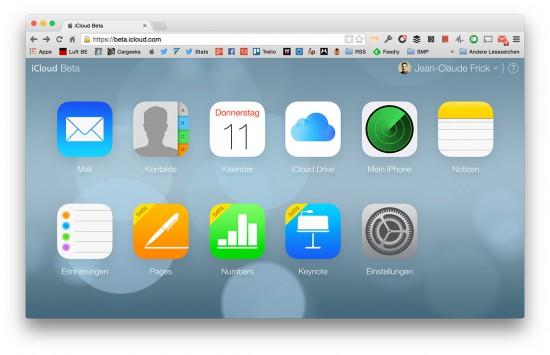 iCloud-Beta-Webseite