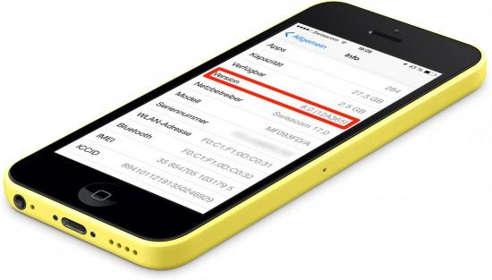 iOS-8-Version-on-iPhone-5C